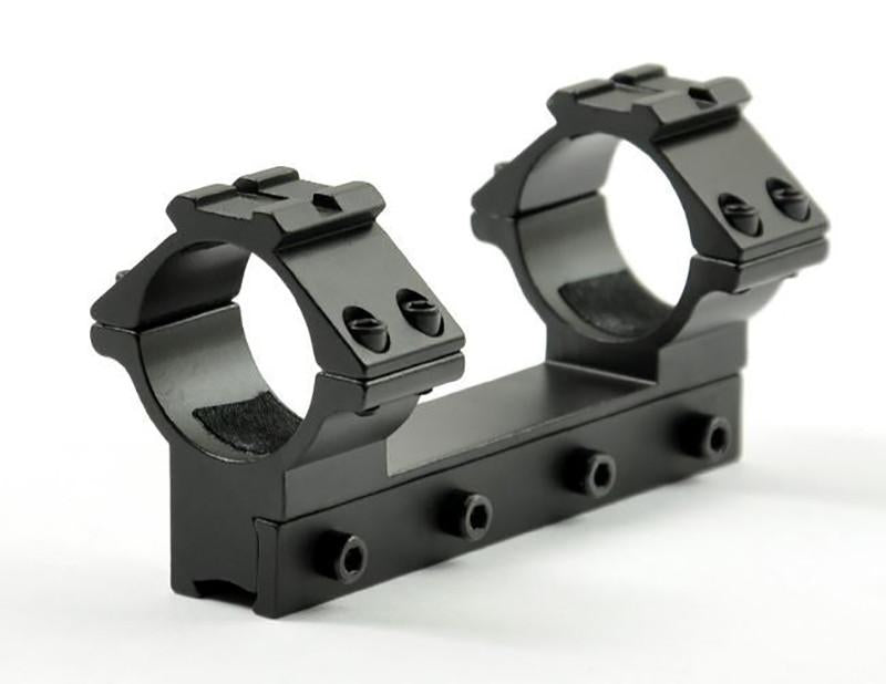 High Profile 100mm One Piece 30mm Mount for 11mm Rail with 20mm Top Rail - Rifleworks Shooting Accessories