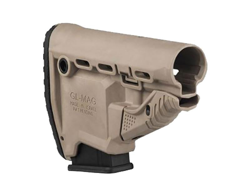 FAB Defense GL-MAG Butstock with Built in Mag Carrier - Desert Tan