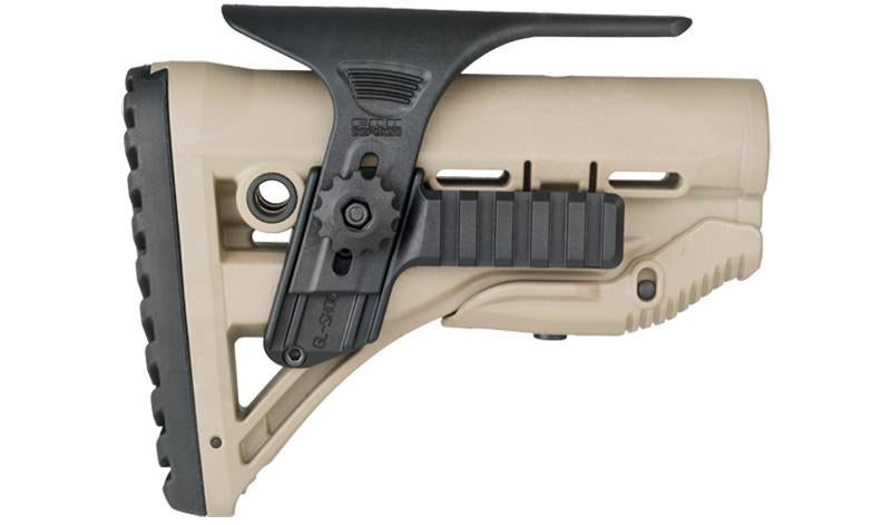FAB Defence CHEEK REST KIT WITH DUAL PICATINNY RAILS FOR GL-Shock - Green - Rifleworks Shooting Accessories