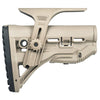 FAB Defense GLR-16 Buttstock with Cheek Rest - Desert Tan - Rifleworks Shooting Accessories