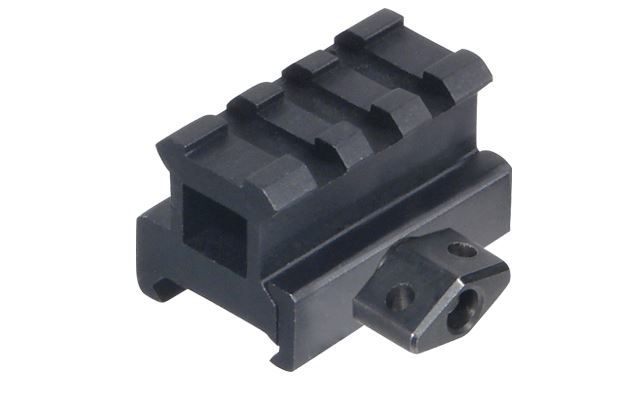 "Leapers UTG Med-pro Compact Riser Mount, 0.83"" High, 3 Slots - Rifleworks Shooting Accessories"