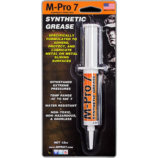 Hoppe's M-Pro 7 Synthetic Grease, 0.5 .Oz Syringe - Rifleworks Shooting Accessories