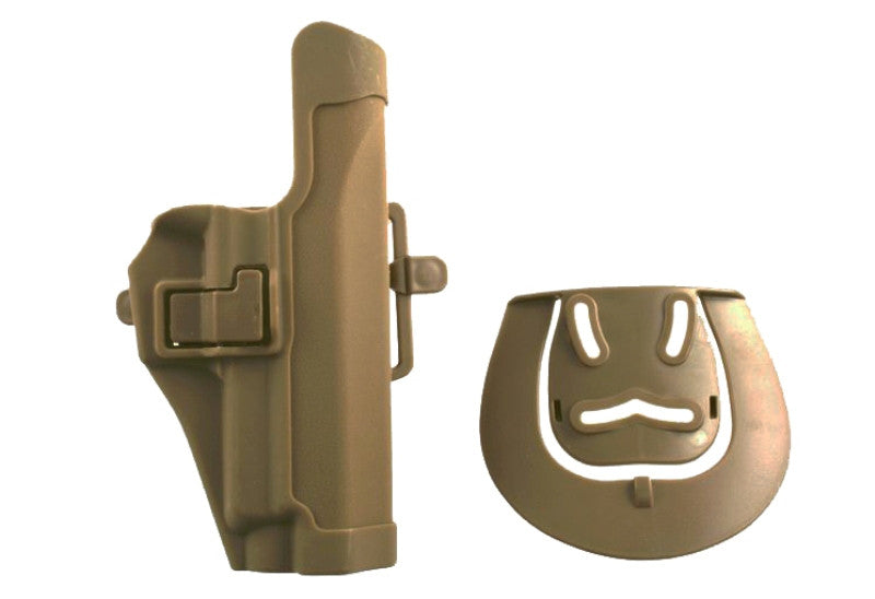 Holster With Belt Loop & Clip Over Fitting For P226 - Tan - Rifleworks Shooting Accessories