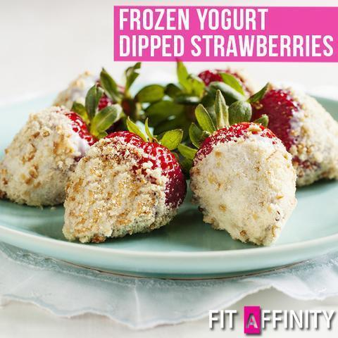 Frozen Yogurt Dipped Strawberries