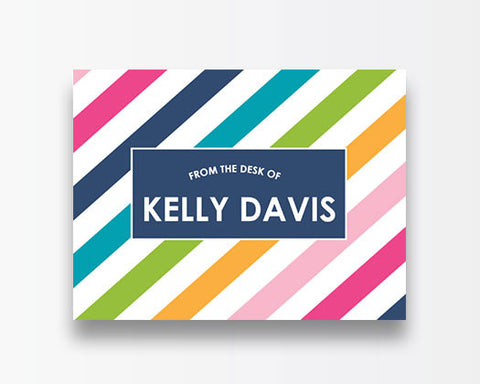 Striped Notecards - Bright
