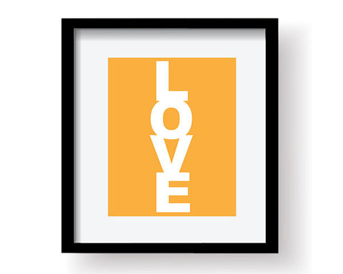 Love Art Print - Orange