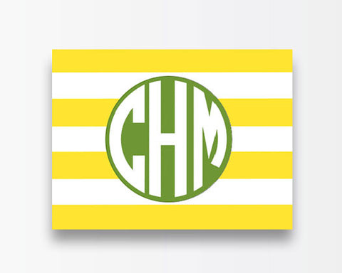 Striped Notecards - Yellow Horizontal