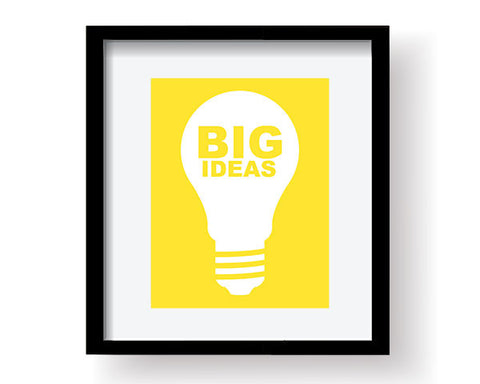 Big Ideas Art Print - Yellow