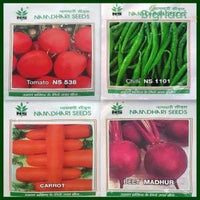 Kitchen Garden Seeds Combo - Carrot, Beetroot, Chilli and Tomato - BigHaat.com