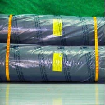 MULCHING SHEET - YELLOW LABEL  (Silver Black Mulch) - BigHaat.com