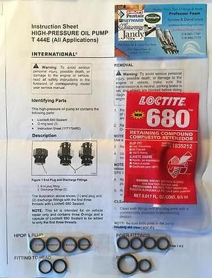 7.3 Ford Powerstroke 7.3L COMPLETE HPOP O Ring REPAIR KIT w/ Loctite ...