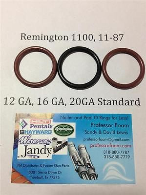 Remington 1100, 1187, 11-87 12ga Barrel Gas Seal Viton O-ring, QTY 3 LOWEST COST