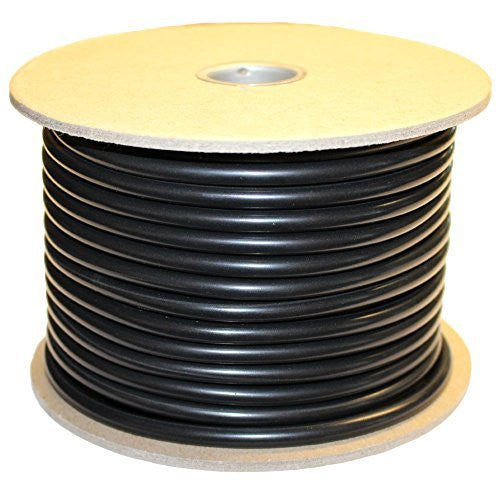 ".224'' (5.7 mm) Buna-N O-Ring Cord Stock, 70A Durometer, 0.224"" Thickness, 100' Spool, Black"