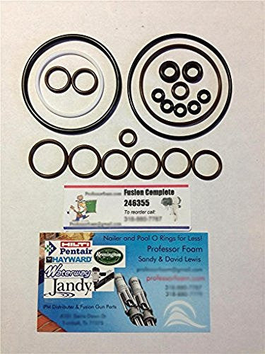 246355 O-ring Rebuild Kit that fits Graco® Fusion Gun Air Purge AP from Professor Foam™