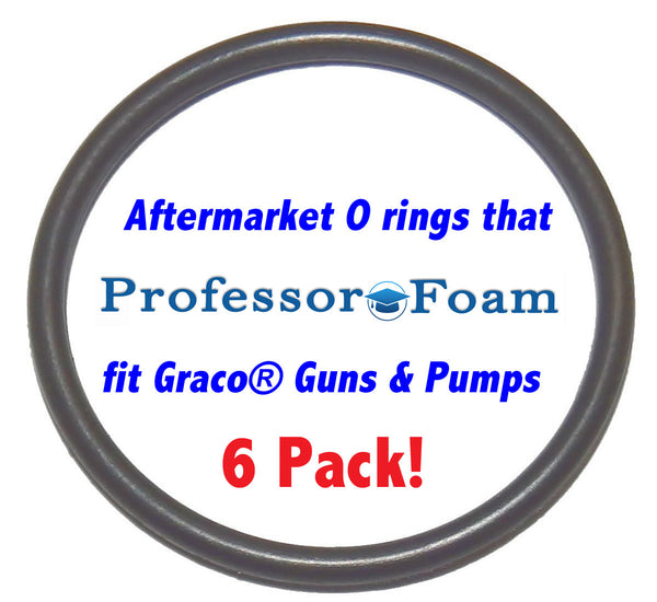 248133 6 Pack Aftermarket Check Valve Face AFLAS O rings that will fit your Graco Fusion Air Purge AP  Professor Foam™