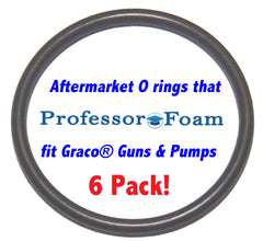 248131 6 Pack Aftermarket Front Head Outer AFLAS O rings that will fit your Graco Fusion Air Purge AP  Professor Foam™