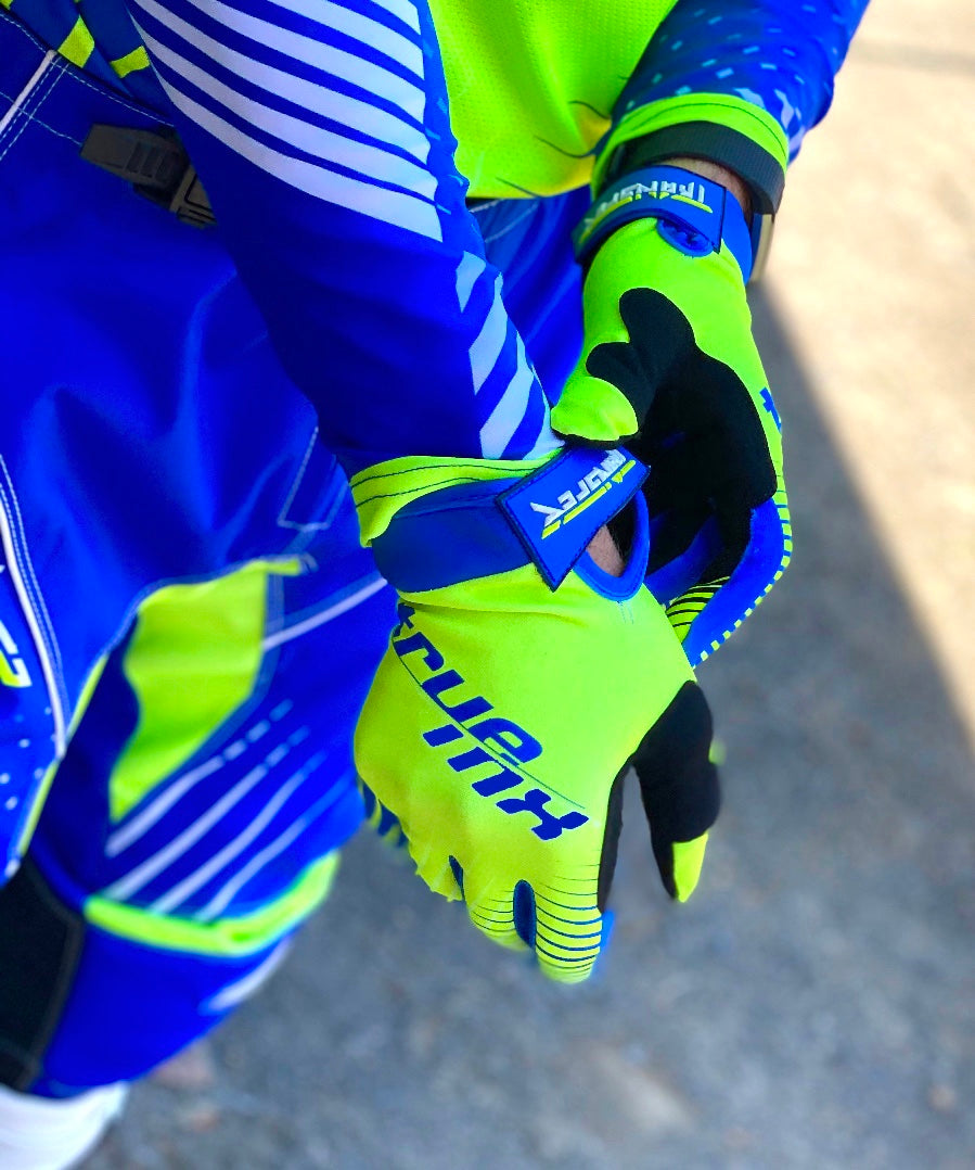2021 TrueMX Transfer Glove - FLO/BLUE