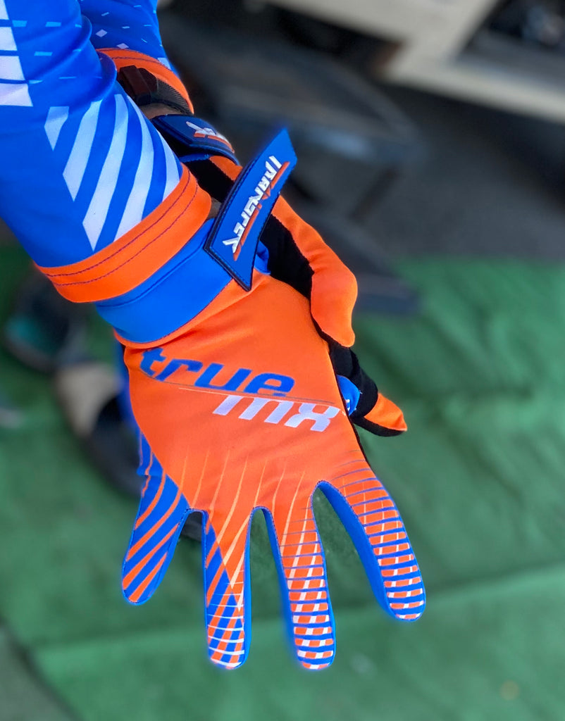2021 TrueMX Transfer Gloves - ORANGE/BLUE
