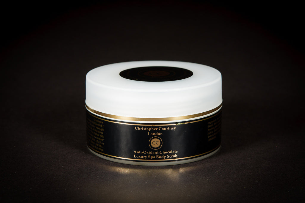 Chocolate Body Scrub -Luxury Chocolate Skincare- Luxury Spa Body Scrub                          200ml - Luxury Spa Body Scrub Christopher Courtney