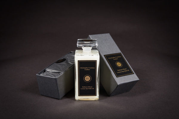 Classic Rose Luxury Spa Bath Oil  200ml by Christopher Courtney in a beautiful black box