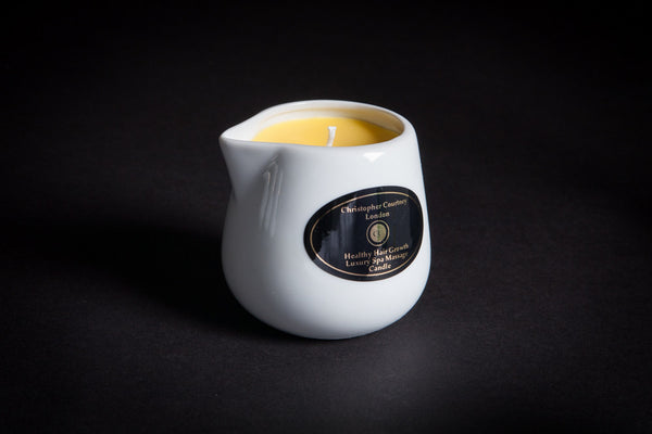 Healthy Hair Growth - Luxury Spa Massage Candle      228ml - Luxury Spa Massage Candle Christopher Courtney