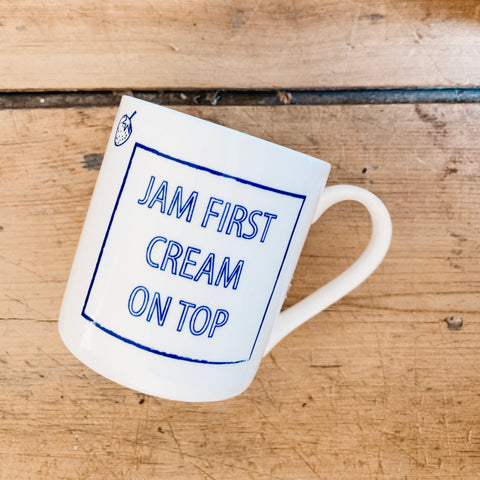 "Cobalt Quotes - ""Jam first cream on top"""