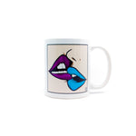 Pop art lips mug