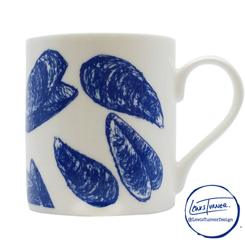 Sealife -  Cascading Mussels - Chown of Cornwall - Fine Bone China - Cornwall - Designer - [Product_type], [Product_vendor]