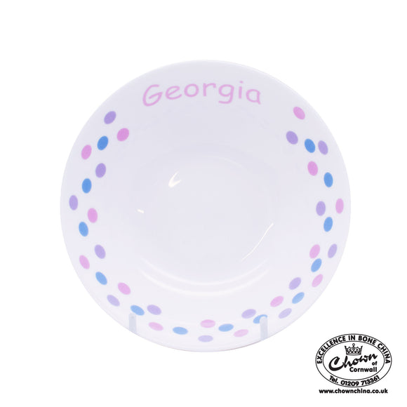 Pastel Spots - Personalised Bowl