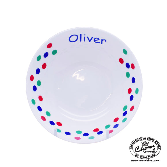 Primary Spots - Personalised Bowl