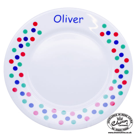 Primary Sunshine Spots - Personalised Plate