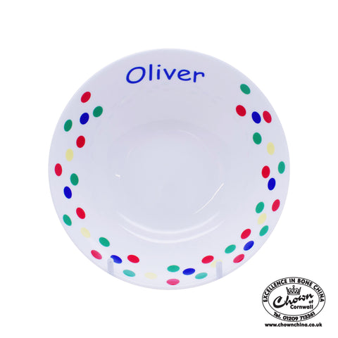 Primary Sunshine Spots - Personalised Bowl