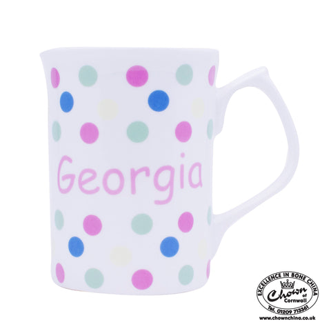 Pastel Sunshine Spots - Personalised Mug