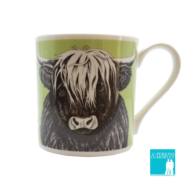 Animal Ink - Highland Cow - Chown of Cornwall - Fine Bone China - Cornwall - Designer - [Product_type], [Product_vendor]