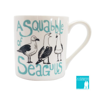 Collective Nouns - A Squabble of Seagulls - Chown of Cornwall - Fine Bone China - Cornwall - Designer - [Product_type], [Product_vendor]