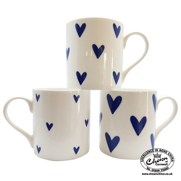 Chown China - Cobalt Hearts - Chown of Cornwall - Fine Bone China - Cornwall - Designer - [Product_type], [Product_vendor]