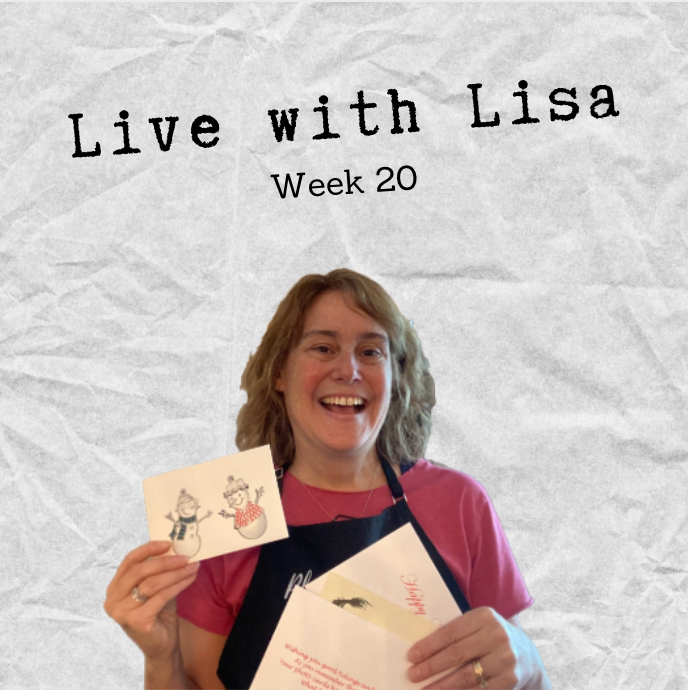 Live with Lisa Week 20: Holiday Cards & NEW Snowman Ornaments-Plymouth Cards