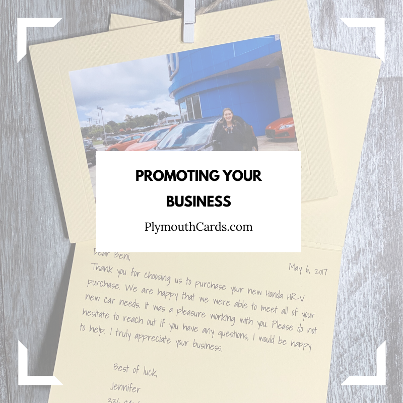 Promoting Your Business With Cards-Plymouth Cards