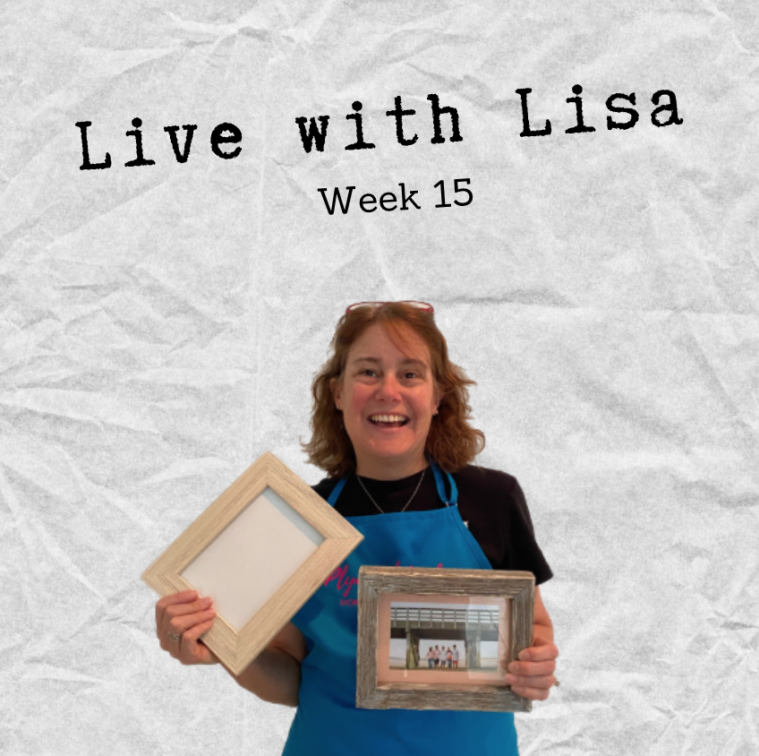 Live with Lisa Week 15: Picture Frames, Grand Opening & More!-Plymouth Cards