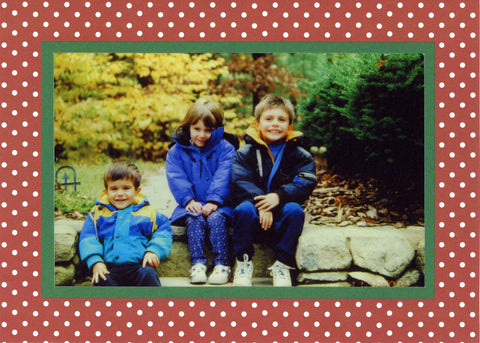 Christmas Card photo in Christmas Dots Card
