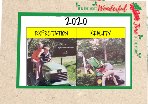 2020 Expectation vs Reality Meme Christmas Card