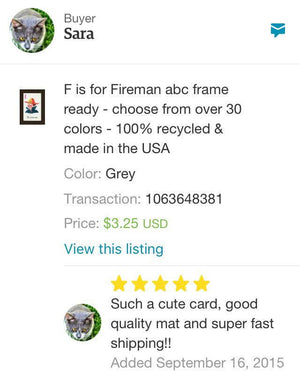 F is for Fireman - PLYMOUTH CARD COMPANY  - 2