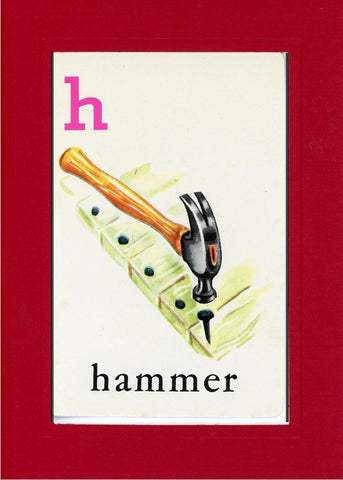 H is for Hammer - PLYMOUTH CARD COMPANY  - 25
