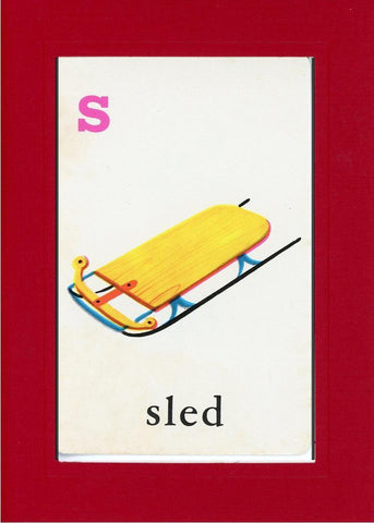 S is for Sled - PLYMOUTH CARD COMPANY  - 20