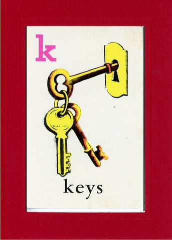K is for Keys - PLYMOUTH CARD COMPANY  - 24