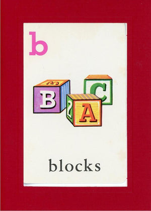 B is for blocks - PLYMOUTH CARD COMPANY  - 24