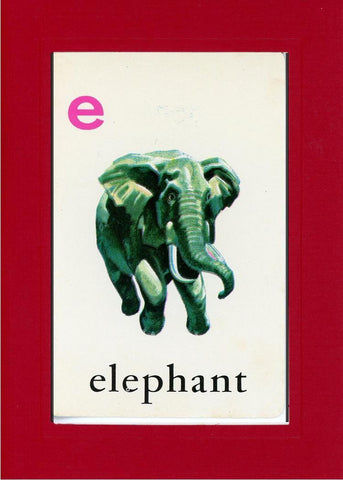 E is for Elephant - PLYMOUTH CARD COMPANY  - 25