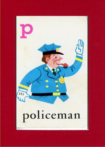 P is for Policeman - PLYMOUTH CARD COMPANY  - 19