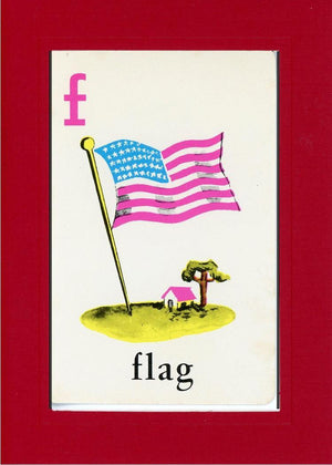 F is for Flag - PLYMOUTH CARD COMPANY  - 12