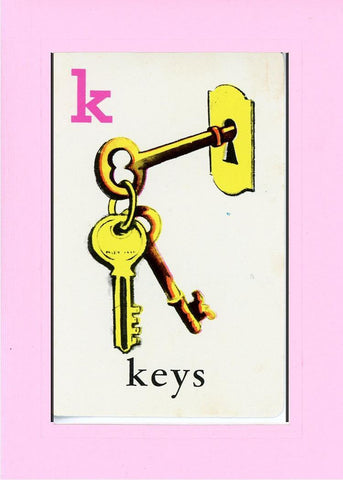K is for Keys - PLYMOUTH CARD COMPANY  - 29